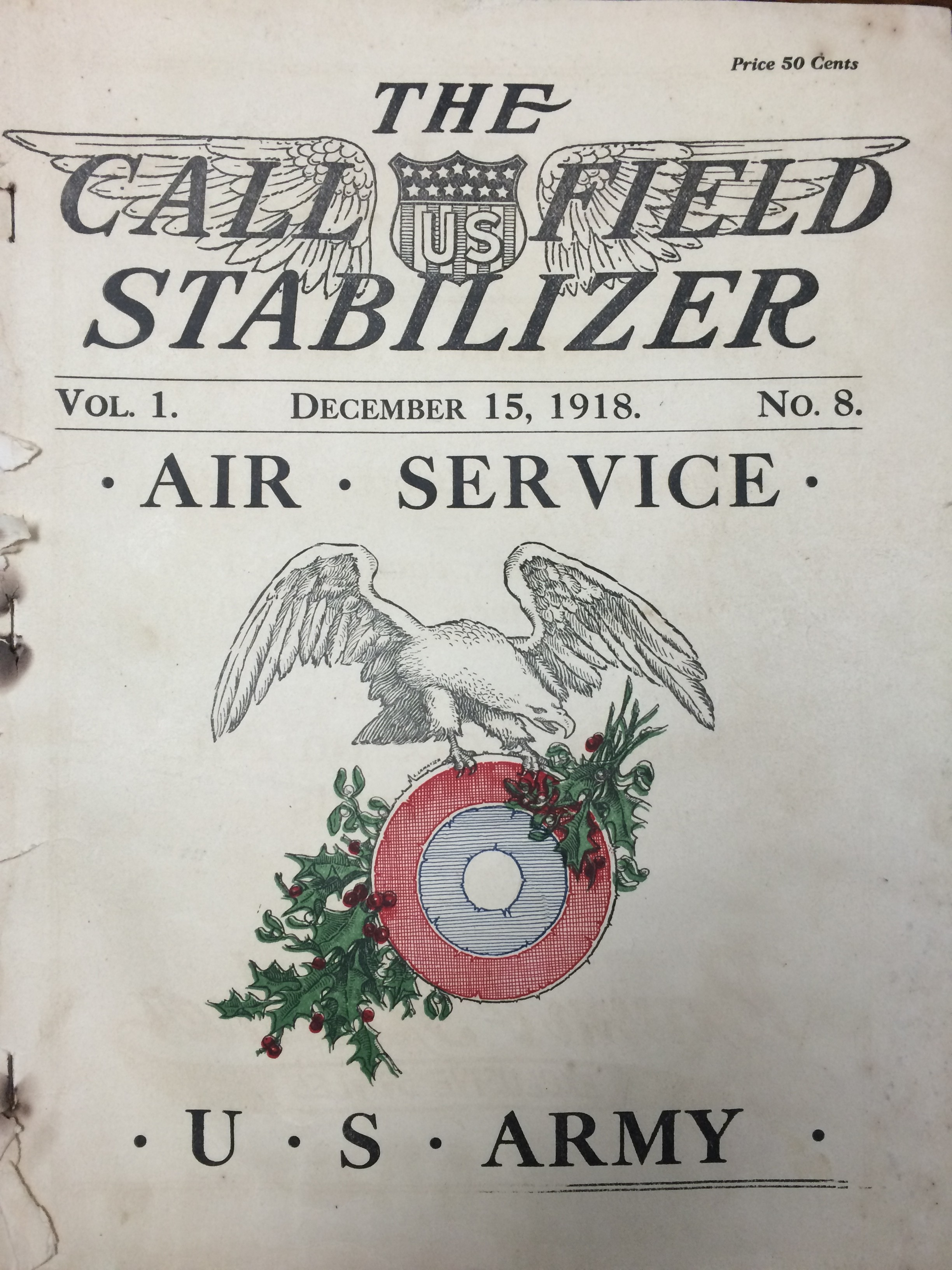 Image 1 December 15, 1918 Call Field Stabilizer