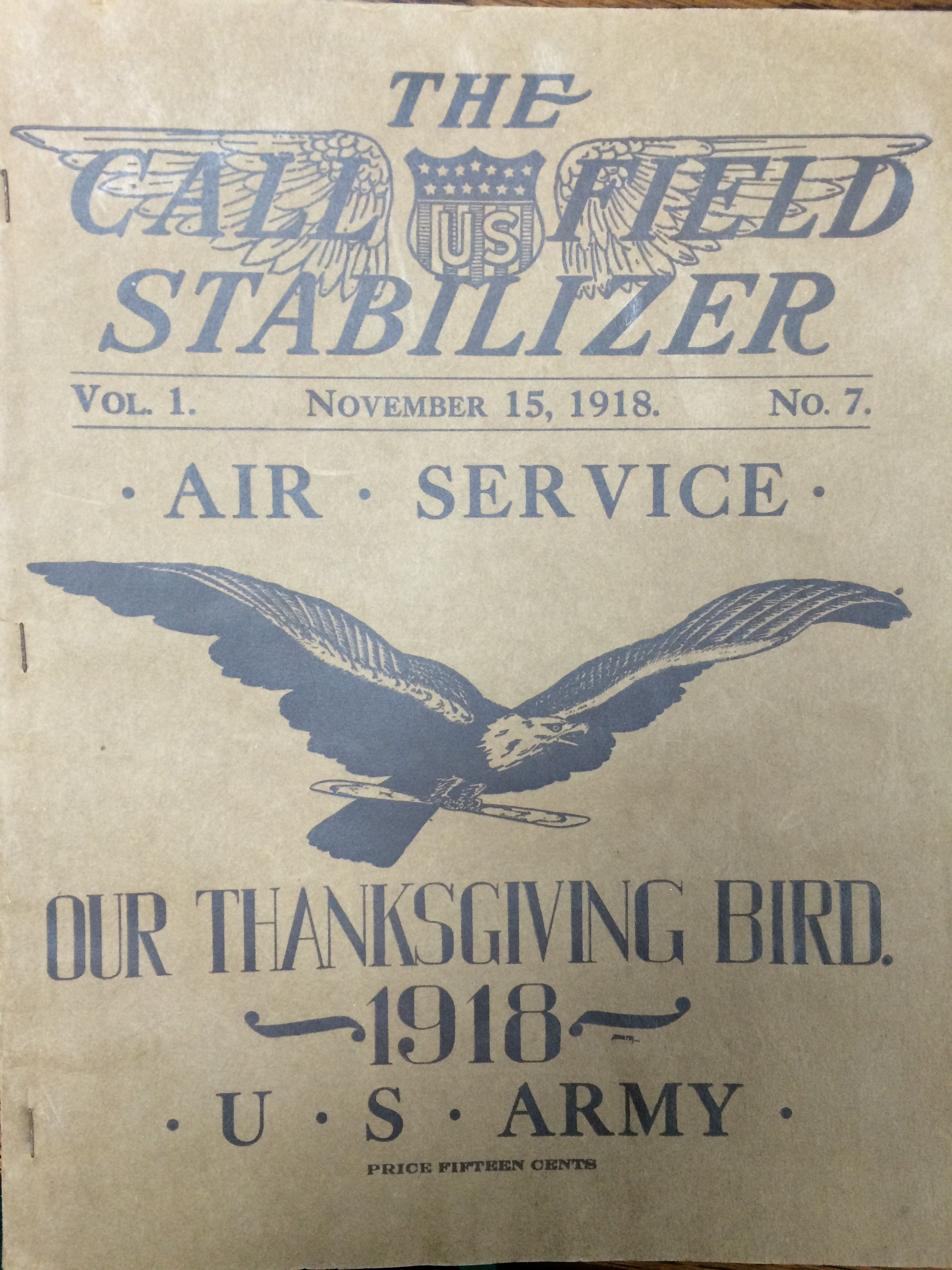 Image 1 November 15, 1918 Call Field Stabilizer