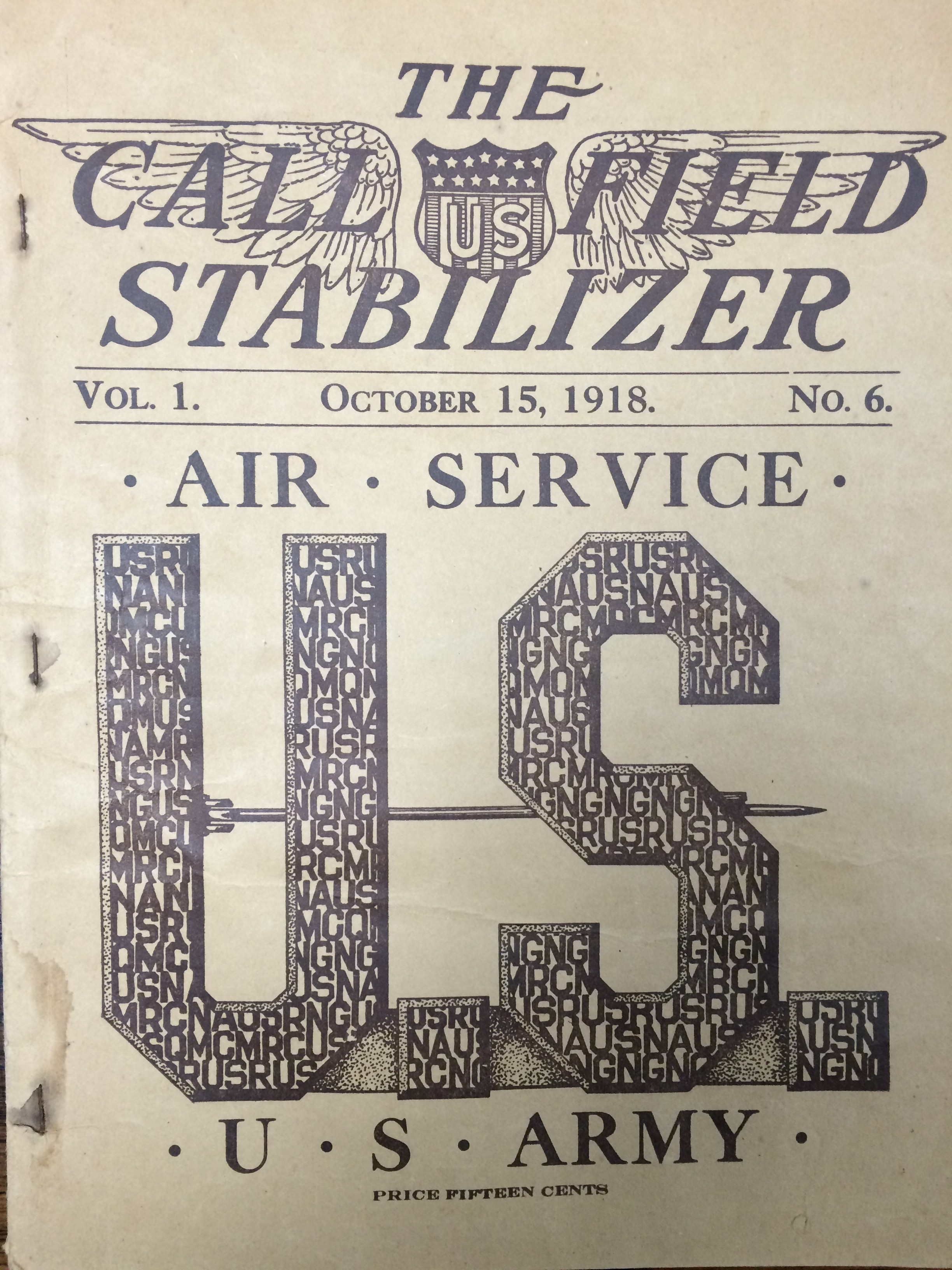 Image 1 October 15. 1918 Call Field Stabilizer