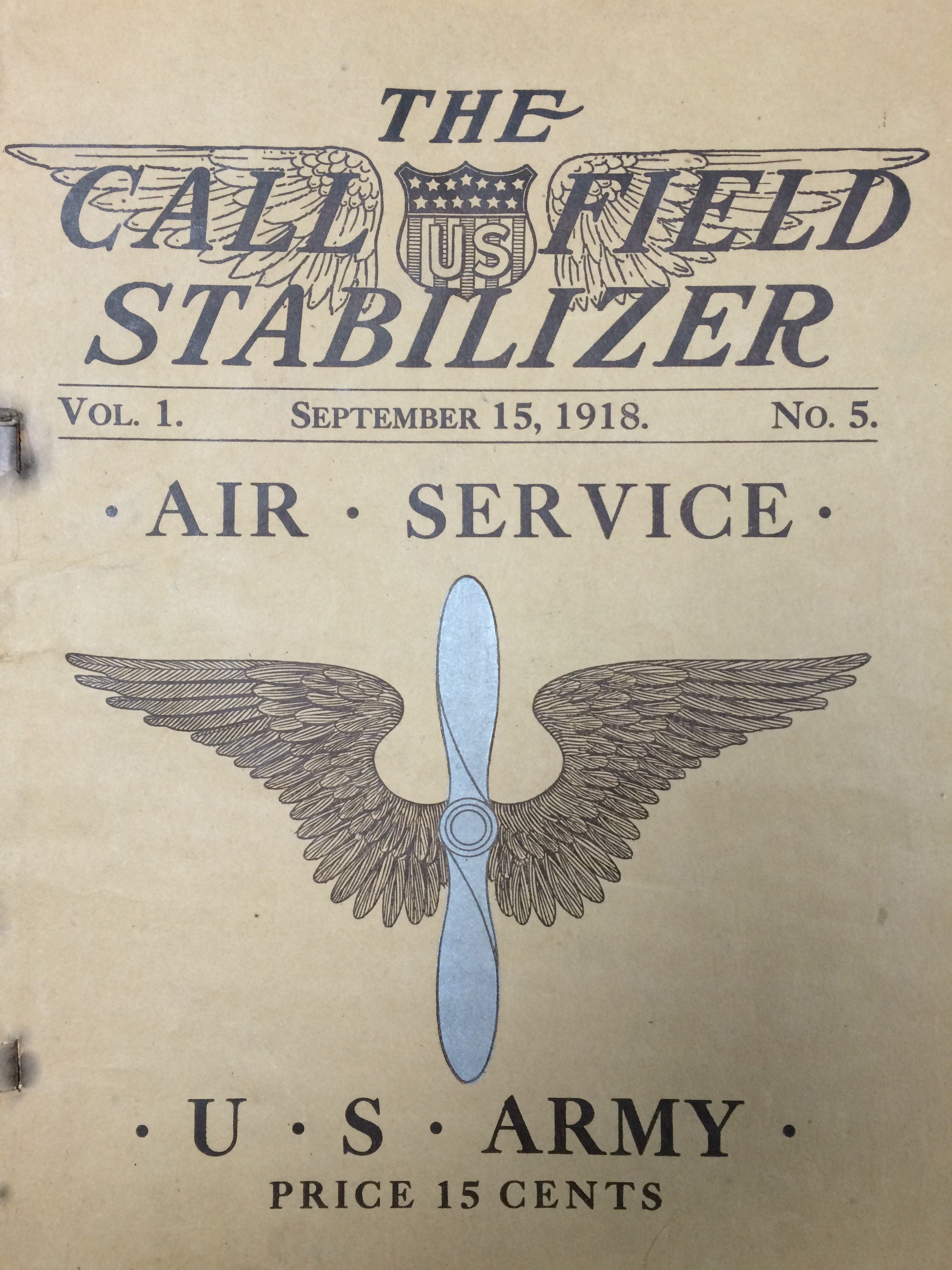 Image 1 Sept 1918 Call Field Stabilizer
