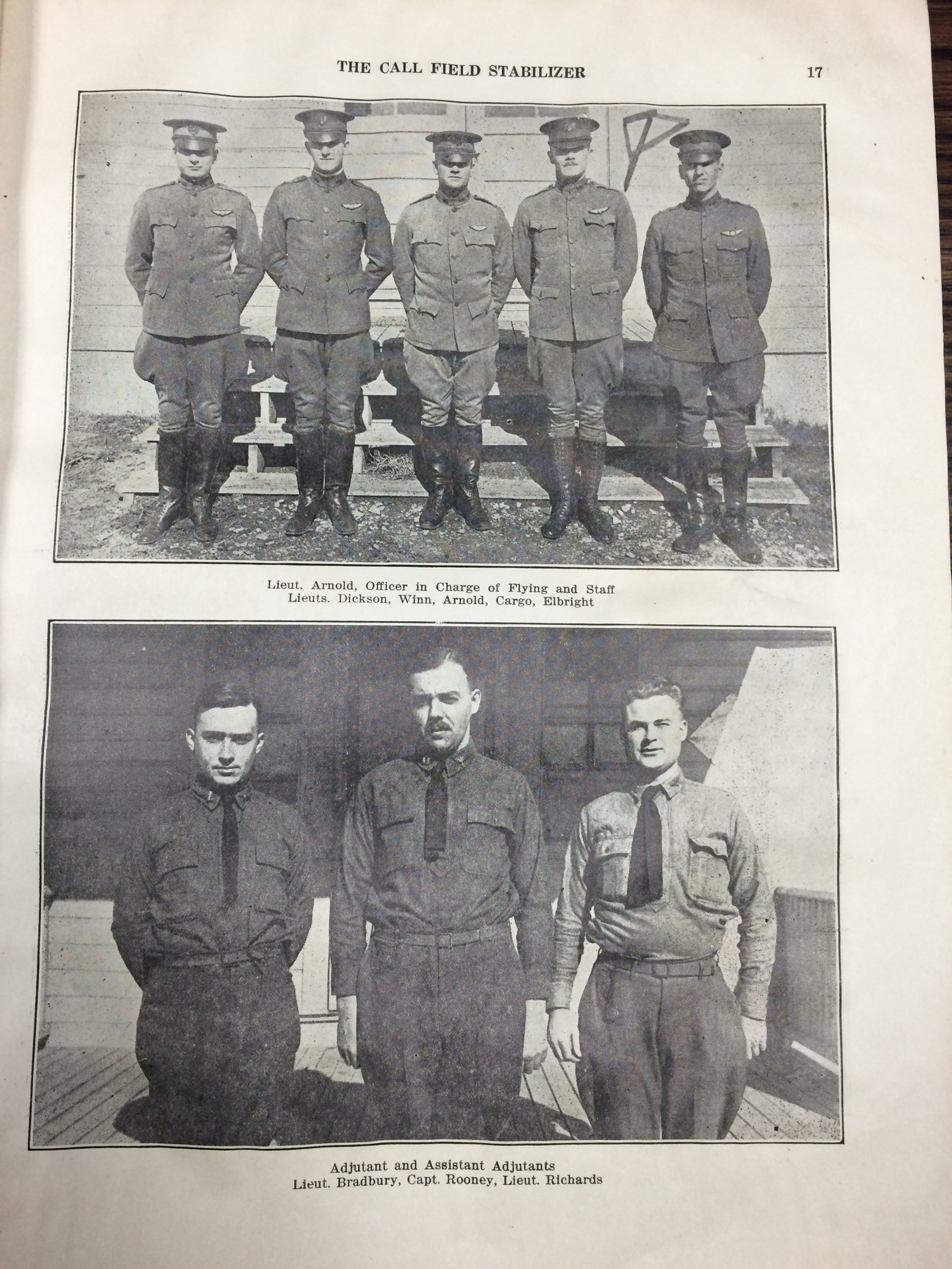 Image 17 December 15, 1918 Call Field Stabilizer