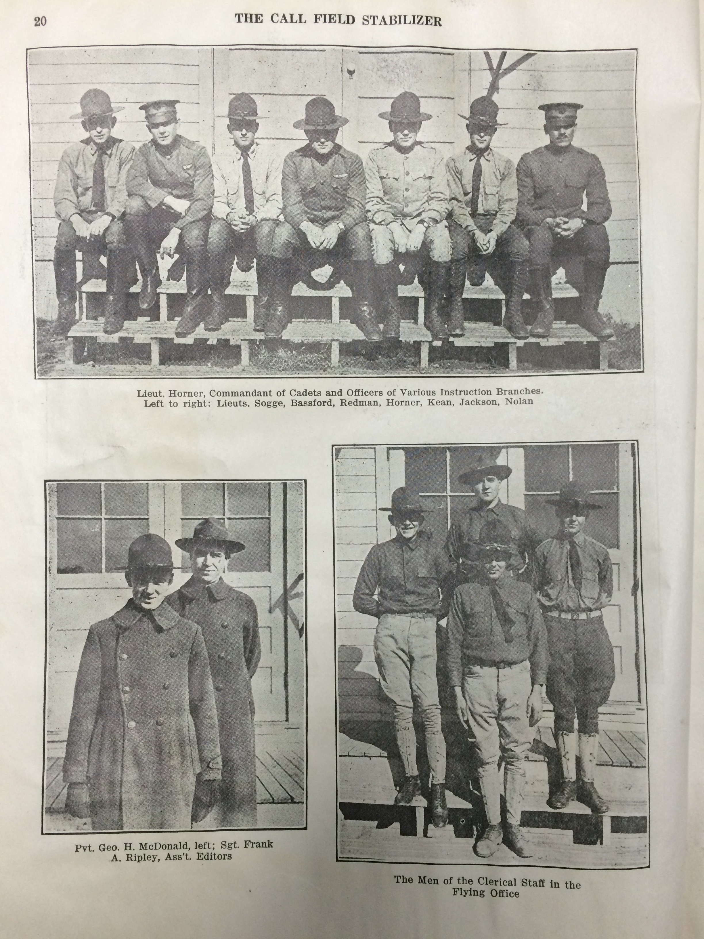Image 20 December 15, 1918 Call Field Stabilizer