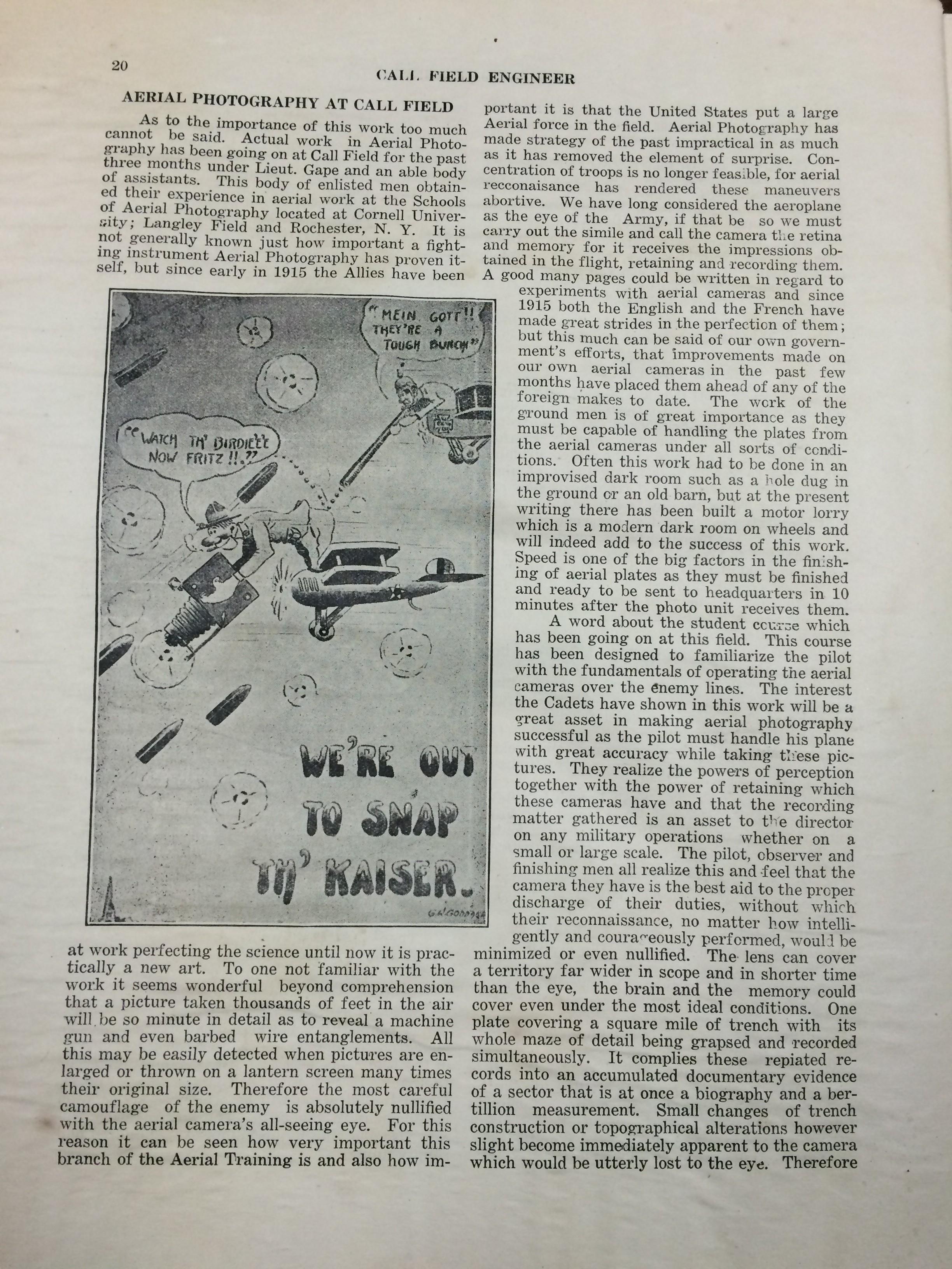 Image 22 July 1918 Call Field Engineer