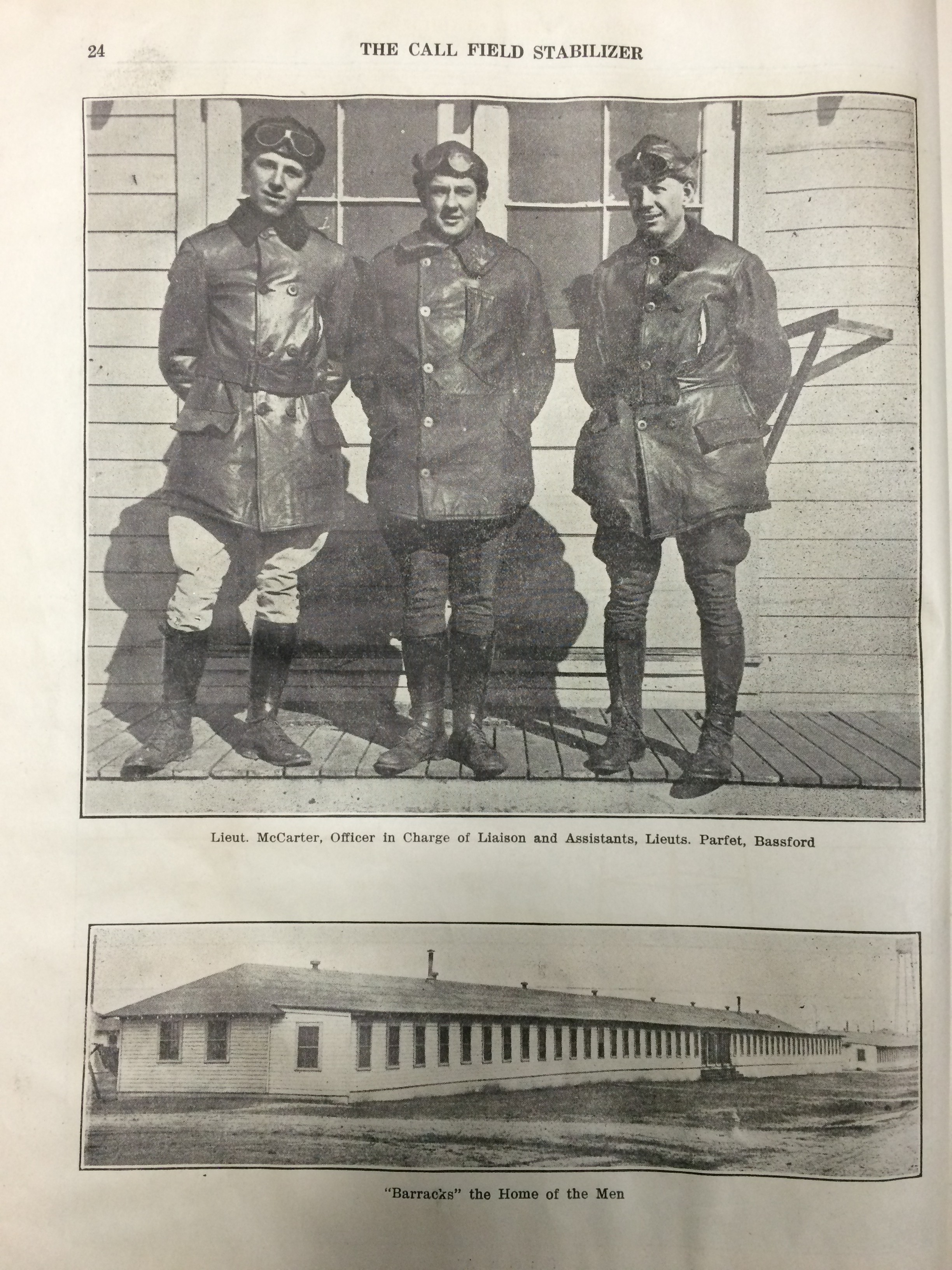 Image 24 December 15, 1918 Call Field Stabilizer