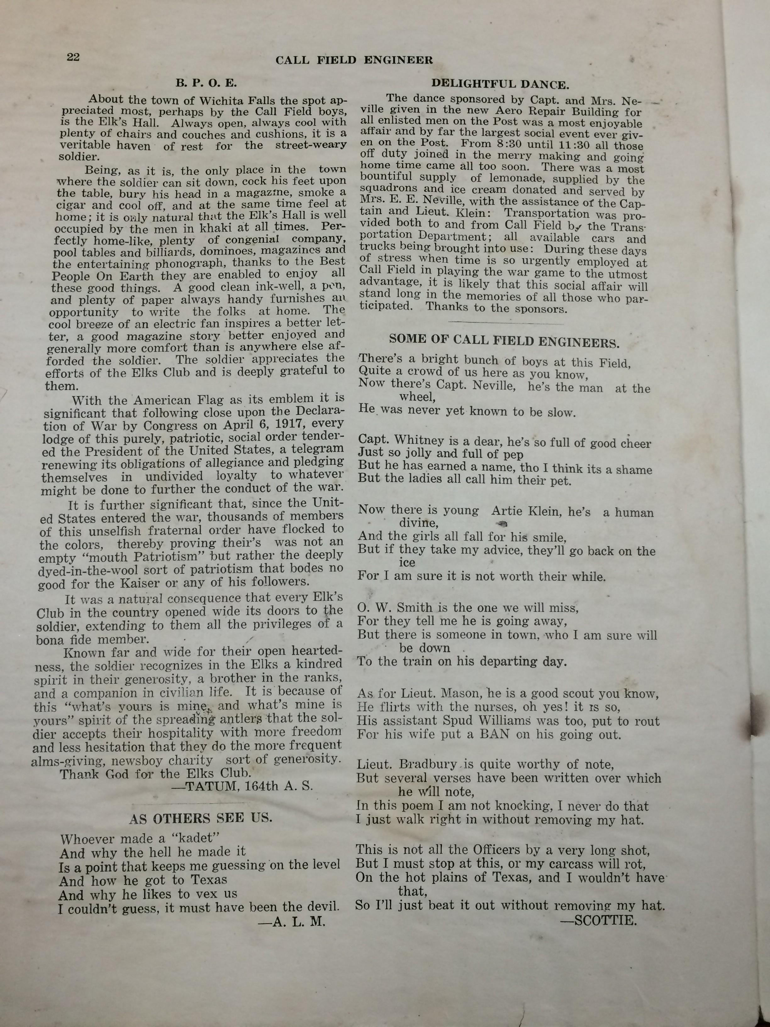 Image 24 July 1918 Call Field Engineer